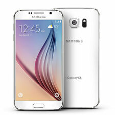 """GALAXY s6 - 64GB - WHITE - BOOST MOBILE 4G LTE NETWORK - GOOD - """"B"""" CONDITION"""