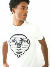 True Religion Buddha Face Logo Graphic White Tee Men's XL T-Shirt