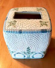 Croscill Home Torino Ceramic Mosaic Tissue Box Cover Bathroom Bedroom Home