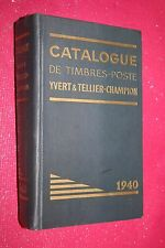 CATALOGUE DE TIMBRES POSTE YVERT & TELLIER CHAMPOIN 1940  ILLUSTRATION