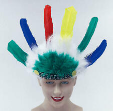 Childrens Indian Head Dress Feather Headdress Red Indian Chief Fancy Dress