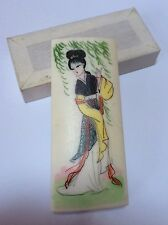 Vintage Chinese Marble Articles Asian Woman Lady Paper Weight Jiangsu China