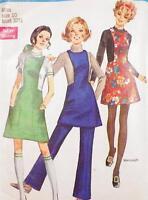 Vintage Jumper & Pants Sewing Pattern Misses Size 10 Simplicity 8395 Boho