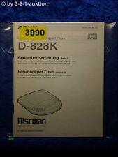 Sony Bedienungsanleitung D 828K CD Player (#3990)