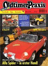 OP9803 + LAVERDA Dreizylinder + D-Rad R9 + ALFA Spider + Oldtimer Praxis 3/1998