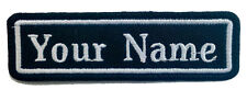 RECTANGULAR CUSTOM EMBROIDERED NAME TAG  Iron / Sew on patch