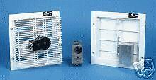 Greenhouse fan kit. Exhaust fan, air intake T/stat. NEW