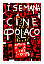 """Decor Graphic Design movie Poster/""""DATE in the dreams/""""Polish Art film.Red table."""