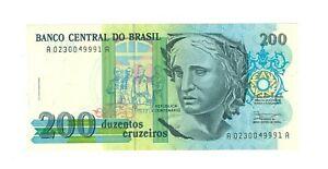 Brazil 200 Cruzeiros - Year 1990 - UNC