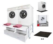 Doppel Untergestell für Waschmaschine Trock Unterschrank Sockel Podest 2x 606011