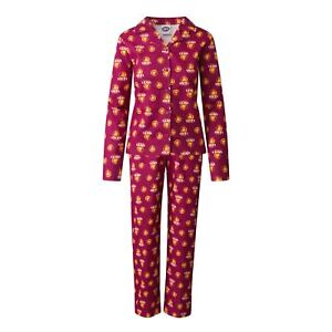 Team AFL Football Womens Lady Flannelette Pyjamas PJ Set Sleepwear Mothers Day