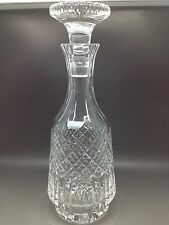 Cut Glass Decanter - Modern Style - No Makers Marks