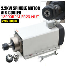 22kw Air Cooled Spindle Motor Er20 220v 18000rpm 300hz Cnc Milling Square