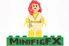 Lego WHITE PHOENIX Custom Printed Minifig Marvel X-Men Mutant Jean Grey