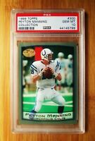 1999 Topps Collection PEYTON MANNING Colts PSA 10 GEM MINT