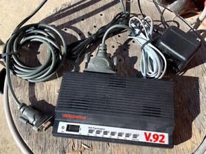 US Robotics 56K External V.92 Fax Modem Model 5686 0701 AC Adapter, And Cable