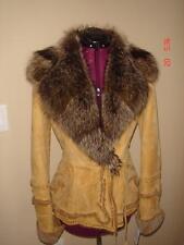 NWT $2,572.00 Rizal & Linea Selecta 'Snow' Lambskin Coat w/ Fox Fur Collar