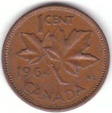 Canada 1 CENTESIMI 1964 moneta bronzo-FOGLIA D'ACERO