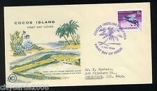 1969 COCOS KEELING ISLANDS   6c Fish on illustrated First Day Cover
