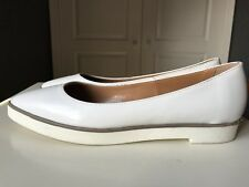 Office White Leather Women Ladies Shoe High Heel Court Flatform Size 6 39