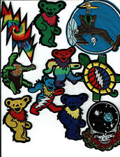 (10) Grateful dead patch wholesale lot of patches embroidered iron on US Seller