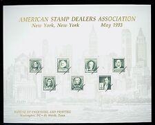 B168 Mint  BEP Souvenir Card 1993 ASDA Stamp Show New York Cat $15.00