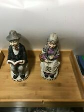 Vintage Old Man and Woman Figures