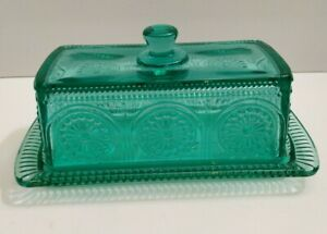 """The Pioneer Woman Adeline Glass Butter Dish - Teal 7"""" w"""