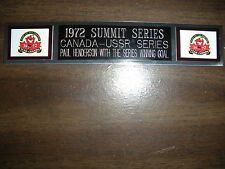 1972 SUMMIT SERIES (CANADA) NAMEPLATE FOR AUTOGRAPHED PUCK/JERSEY CASE/PHOTO
