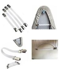 IRONING BOARD COVER FASTENERS ELASTICATED STRAPS CLIPS SECURE BED SHEETS GRIPPER