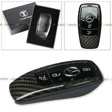 LUXURY REAL CARBON FIBER CASE FOR 2017 MERCEDES-BENZ E-CLASS E300 SMART KEY FOB