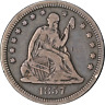 1857-O Seated Liberty Quarter - Scratches Great Deals From The Executive Coin Co