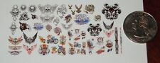 1/18 Scale Custom Tattoos: Skulls and Biker Variety Pack - Waterslide Decals