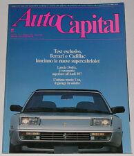 AUTOCAPITAL 5/1989 ALFA ROMEO 2600 SPIDER - FERRARI MONDIAL T CABRIO / 365 GTC/4