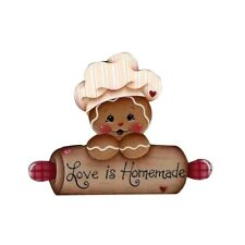 Christmas Gingerbread Lady Sentiment  Metal Die Cutter Cutting Dies Cards