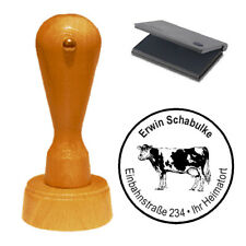 Stempel « Kuh » Adressenstempel Motivstempel Holzstempel
