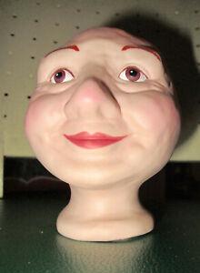 WHIMSICAL Overly-Raker Porcelain Ceramic Doll Head for Crafts & Doll Making