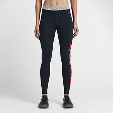 NWT Nike Pro Warm Mezzo Waistband Women's Tights, Black/Red, Size Small NEW
