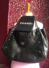 ce7a5259e3ac CHANEL Black Glaze Soft Caviar Chain CC Turnlock Shoulder Bag Hand Tote  Large XL