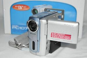 SONY DCR-PC107E CAMCORDER MINI DV DIGITAL VIDEO CAMERA DV-in. BOXED MINT