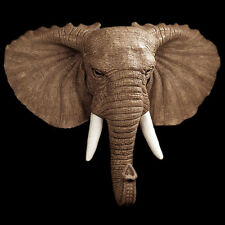 Elephant Head Bust British Trophy Display Sculpture