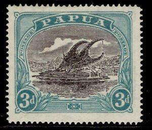 AUSTRALIA - Papua GV SG98, 3d black & bright blue-green, M MINT.