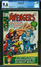 AVENGERS 75 CGC 9.6 QUICKSILVER SCARLET WITCH 1st app ARKON New Case MARVEL 1970