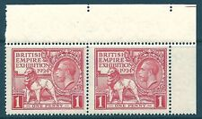 Sg 430c 1d 1924 Wembley variety 'Tail to N of Exhibition' UNMOUNTED MINT