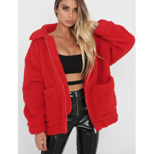 Fashion Women/s Winter Warm Teddy Bear Fluffy Coat Fleece Fur Jackets Outerwear
