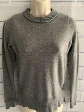 C&C California Women's Size XS Gray Wool Alpaca Blend Sweater Side Button Detail