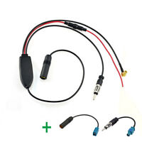 FM/AM to DAB DAB+ Car Radio aerial Amplifier/converter/splitter & 2x Fakra Cable