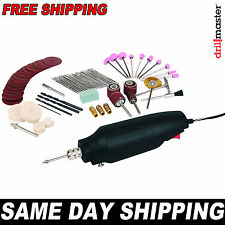 Drill Master Rotary Tool Kit w 80 Pieces also fits Dremel  3/32 1/8 **SAME DAY**