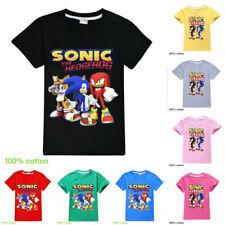2020 Kids 100% Cotton Tee Sonic The Hedgehog Children Short Sleeve T-Shirt Tops