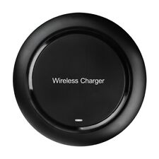 Black Qi Wireless Charging Charger Pad For Samsung Galaxy Note S6 S8 Cell Phone